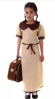 Best Dressed Girls' WW2 Evacuee Costume Dress Age 4-6 Years