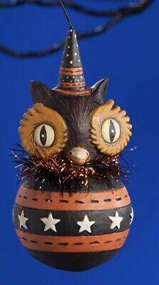 Bethany Lowe Johanna Parker Halloween Owl Ball Ornament—retired