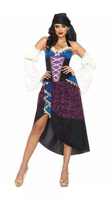 Tarot Card Reader Halloween (Leg Avenue Women's 4 Piece Tarot Card Reader Gypsy Halloween Costume Medium)