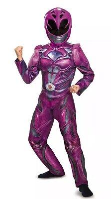 Child Halloween Costume Mask Pink Power Ranger Rangers Muscle Girls Kid L 10-12 ()