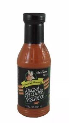 Anchor Bar Buffalo Sauce - Frank & Teressa's Original Anchor Bar Buffalo Wing Sauce Medium Recipe 12oz