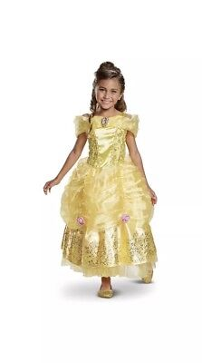 Beauty Beast BELLE Deluxe Dress Up Costume Disguise Girls Medium 7/8 Exclusive