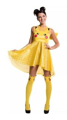 Rubee's Women XS Fits Size 2-6 Pokemon Pikachu Dress Costume Halloween Cosplay