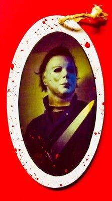 "Michael Myers-2018 Halloween Custom   Handmade Ornament Decor ""BLOOD SPLATTER""](Halloween Decorations Michaels)"