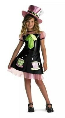 Mad Hatter Alice Wonderland Disguise Halloween Child Costume Girls Medium 10-12](Mad Hatter Halloween Costume For Girls)