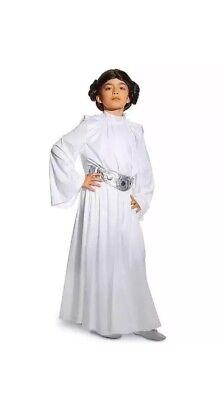 Disney Star Wars PRINCESS LEIA Kids Costume Size 9/10 New