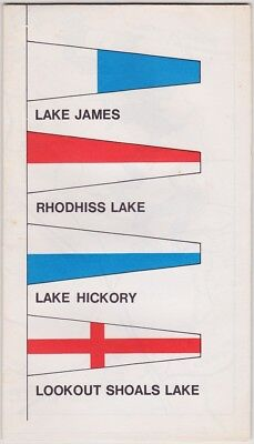 1968 Duke Energy Map Of North Catawba Lakes