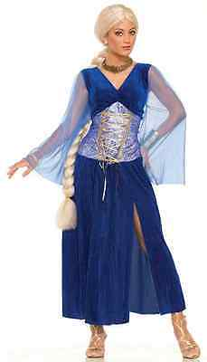 Khaleesi Dress Costume (Sapphire Medieval Game Thrones Khaleesi Fancy Dress Up Halloween Adult)