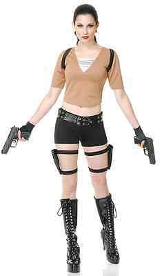 Tomb Fighter Raider Hunter Lara Croft Fancy Dress Halloween Sexy Adult Costume - Tomb Raider Halloween Costumes