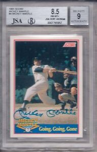 MICKEY-MANTLE-AUTOGRAPHED-SET-FOUR-M-ENTERPRISES-JSA-BGS-GRADED-AUTHENTICATED
