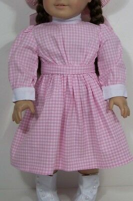 Victorian PINK Gingham Check Dress Doll Clothes For 18