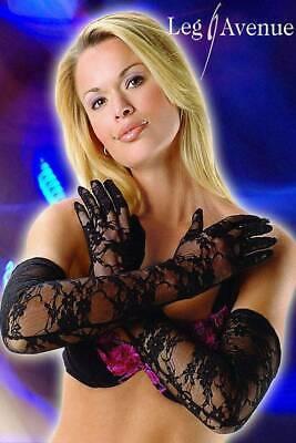 Elegante lange Spitzen Handschuhe schwarz