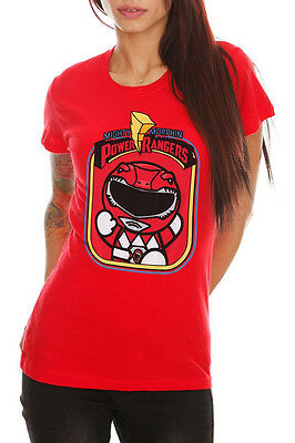 Mighty Morphin Power Rangers Red Ranger Girls T-Shirt (Girls Power Ranger)