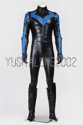 Arkham City Batman Kostüm (Batman Arkham City Cosplay Herren Kostüm Halloween Nightwing Costume Set Neu New)