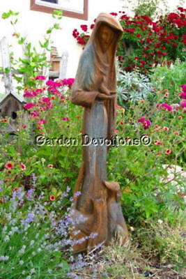 St. Francis Assisi 38 inc Outdoor Garden Statue Dog Cat Bird Memorial Fiberglass