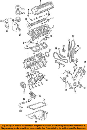 FORD\LINCOLN\MERCURY F7LZ6584BA GENUINE OEM VALVE COVER GASKET 4.6 4V