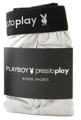 PLAYBOY Boxershorts SHORT grau BOXERSHORTS Boxer Shorts ONE SIZE 5 / 6 NEU Playboy Shorts