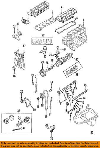nissan oem 93-97 altima-engine crankshaft crank main bearing 1220740f00