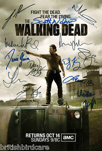 THE-WALKING-DEAD-Autograph-POSTER-Signed-by-13-of-Cast-Ultra-Rare-Quality-Print