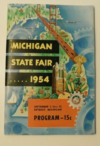 Michigan State Fair 1954 program many artists and ads see photos