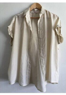 Jucca Silk Short Sleeve Top Pink Uk 14 VGC