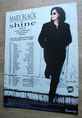 MARY BLACK - SHINE 1997 UK TOUR DATES VINTAGE MUSIC ADVERT POSTER - 30 X 22 CM