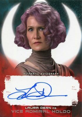 Star Wars Last Jedi S2 Red  99  Autograph Card Laura Dern As Vice Admiral Holdo