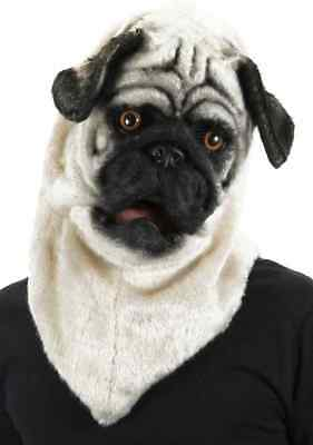 Pug Puppy Halloween Costumes (Pug Mask Mouth Mover Puppy Dog Animal Fancy Dress Halloween Costume)