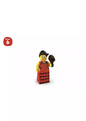 LEGO MINIFIGURES (8827) - Series 6 - FLAMENCO DANCER - Sealed - Hole-Punched Bag