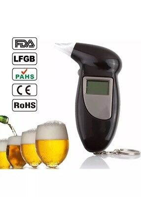 Alcohol Breath Tester Breathalyser Tester Detector LCD Digital Brand New