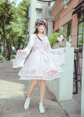 Style One Piece Dress - Sweet Lolita Girl's Dress Lovely Printed Skirt Chinese Style One Piece 3Colors