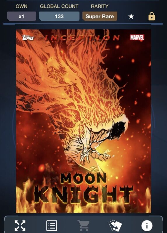 Marvel Collect by Topps Inception Fire Moon Knight