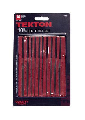 New TEKTON 6655 Needle File Set, 10-Piece