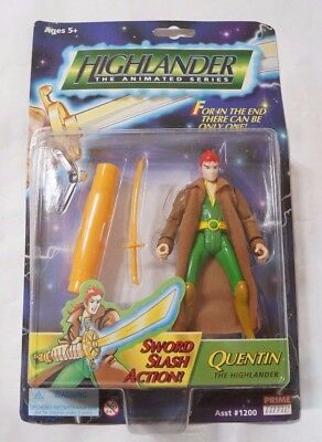 Highlander The Animated Series : Quentin Mac Leod Action Figure with Sword 5.5""