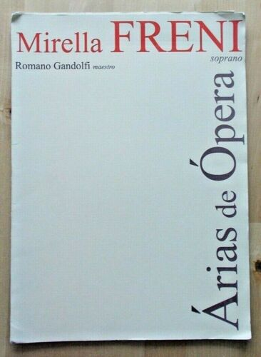 Arias de Opera programme Coliseu de Lisboa 18/9/2000 Mirella Freni Rom. Gandolfi