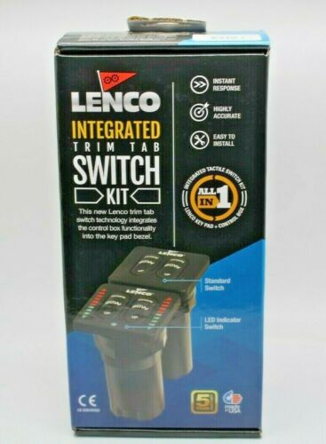Lenco LED Indicator Integrated Tactile Switch Kit w/Pigtail f/Single Actuator Sy