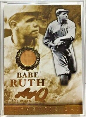 Babe Ruth 2015 Leaf Q Memorabilia GOLD Authentic Red Sox Era GU Bat #'d 7/25, used for sale  Shipping to Canada