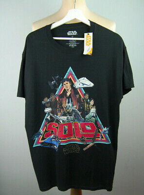 @NEW@ Official Star Wars 'SOLO' Retro Film Poster Style T-Shirt - Sz L