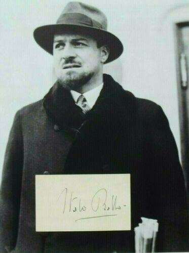 Italo Balbo Italian Blackshirt, Marshal Air Force, Army Commander Autograph Rare