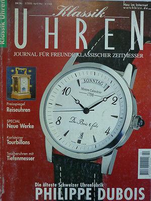 KLASSIK UHREN 2- 2000 mit 86 Seiten ÖSTERREICHISCHE UHRMACHERSCHULE TAUCHERUHREN