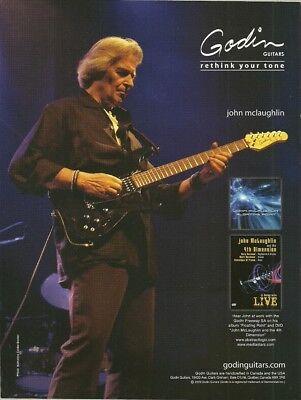 John McLaughlin Godin Freeway SA guitar ad 8 x 11 advertisement print