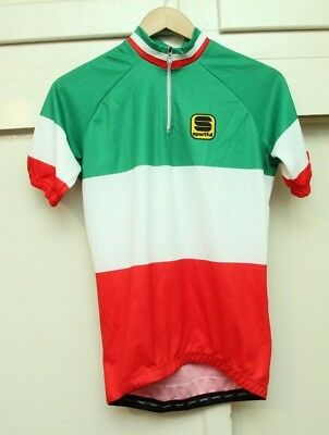Sportful ITALIAN National Team Colors Pista Tricolor Cycling Jersey Men s XS 9274c10e7