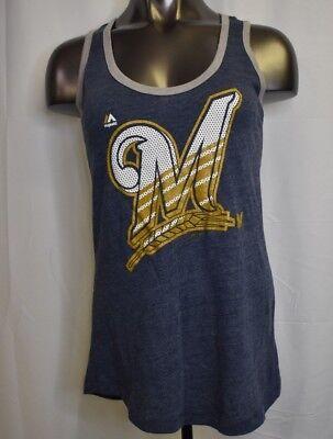 Majestic MLB Womens Milwaukee Brewers Baseball Shirt NWT S, L, XL, 2XL](Milwaukee Brewers Baseball)