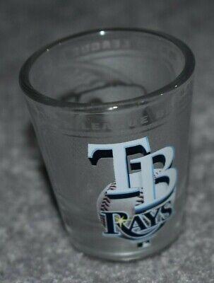 TAMPA BAY RAYS MLB BASEBALL 2oz SPORTS ROUND SHOT GLASS
