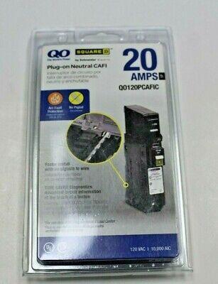 Square D Qo120pcafic 20 Amp 1 Pole Circuit Breaker Ground Fault New