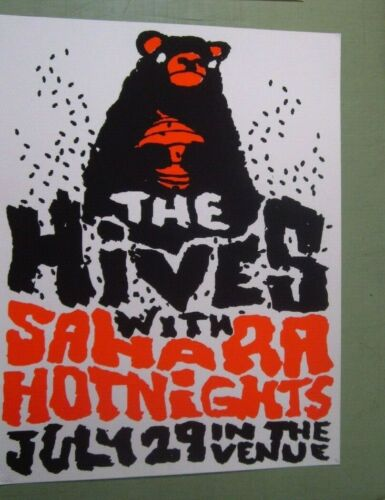 Hives 2004 Salt Lake City Utah Concert Poster Travis Bone w/ Sahara Hot Nights
