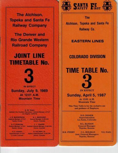 Lot of 11 Santa Fe Timetables/Rule Books