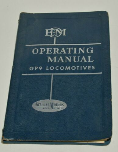 Vintage 1958 Operating Manual Model GP9 General Motors Locomotives Rare