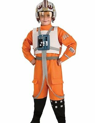 X-wing Fighter Pilot Costume Childs Boys Star Wars Xwing - S 4-6 M 8-10 L (Xwing Pilot Kostüme)