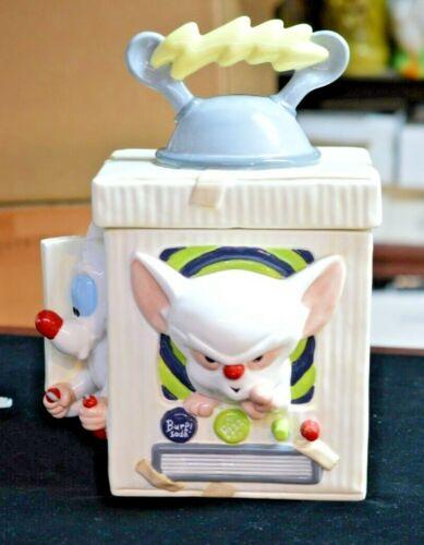 "1996 Warner Bros Pinky and the Brain Cookie Jar 13"""